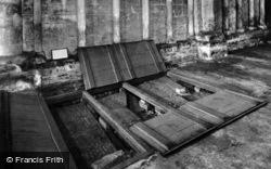 Cathedral, Saxon Coffin Slabs c.1930, Peterborough