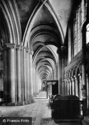 Peterborough, Cathedral, South Aisles c.1930