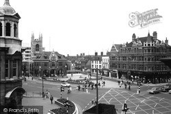 Cathedral Square And Guildhall 1967, Peterborough