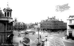 Peterborough, Cathedral Square And Guildhall c.1965