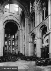 Cathedral, View Into North Transept c.1930, Peterborough
