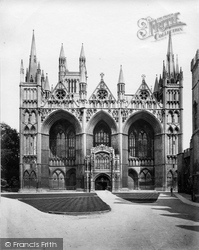 Peterborough, Cathedral West Front c.1862