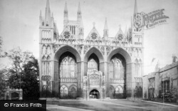 Peterborough, Cathedral, West Front c.1880