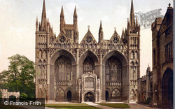 Cathedral, West Front c.1895, Peterborough