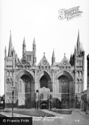 Peterborough, Cathedral, West Front c.1955