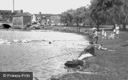 Fishing On The River Nene c.1965, Peterborough