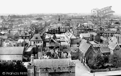 From Cathedral Looking West 1919, Peterborough