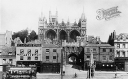 Market Square And Cathedral 1904, Peterborough