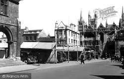 Peterborough, Market Square c.1955