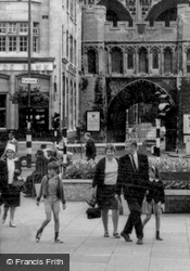 Out With Family, Cathedral Square c.1965, Peterborough