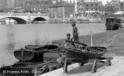 Preparing For Boating On River Nene 1952, Peterborough