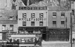 Shops And Tram 1904, Peterborough