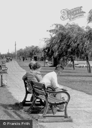 Sitting On The Bench By The River c.1955, Peterborough