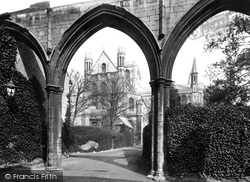 Peterborough, The Cathedral From The Infirmary Arches 1890