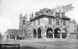 Peterborough, The Guildlhall And Butter Cross 1890