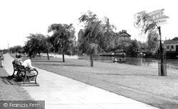 The River Embankment c.1955, Peterborough