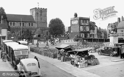 Market Square c.1955, Petersfield