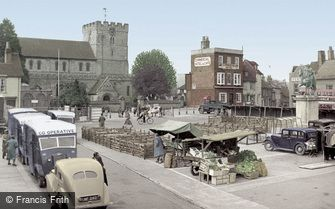 Petersfield, Market Square c1955