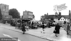 The Square, Market Day c.1965, Petersfield