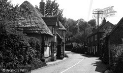 Petham, The Old Thatched House c.1955