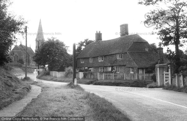 Photo of Pett, The Village c.1955