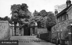 Petworth, Petworth House Grand Entrance, 'gog And Magog' c.1955