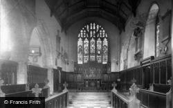 Petworth, St Mary's Church Interior 1908