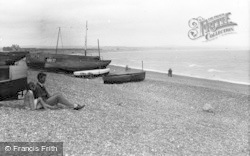 Pevensey Bay, The Beach c.1947