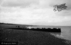 Pevensey Bay, The Beach c.1950