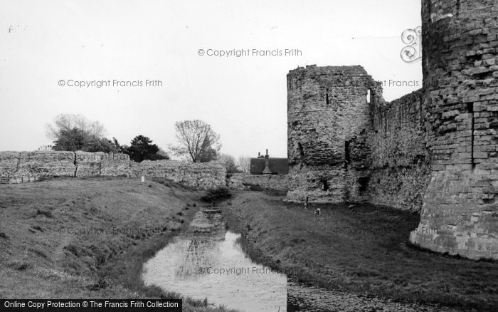 Photo of Pevensey, Castle And Moat c.1955