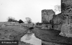 Pevensey, Castle And Moat c.1955