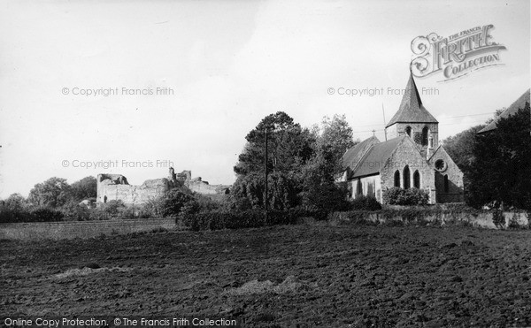 Photo of Pevensey, Castle And The St Nicholas' Church c.1955