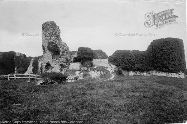 Photo of Pevensey, Castle From South West 1890