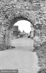 Pevensey, Castle, The Roman Gateway c.1955
