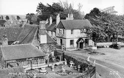 Pevensey, Mint House Gardens From Castle c.1955
