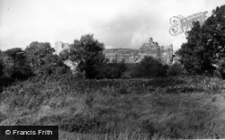 Pevensey, The Castle From The Playing Fields c.1955