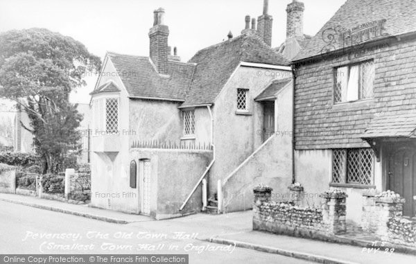 Photo of Pevensey, The Old Town Hall c.1955