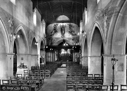 Pewsey, St John The Baptist's Church Interior 1929