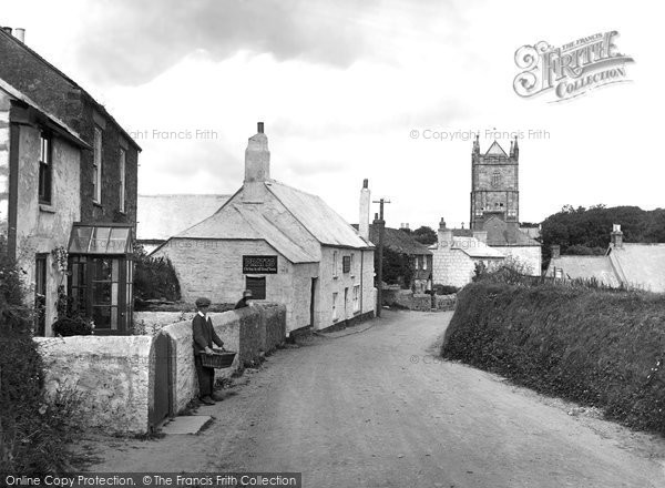 Phillack, the Village and Church 1927