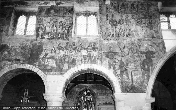 Photo of Pickering, Medieval Wall Paintings in the Church c1965, ref. P156189