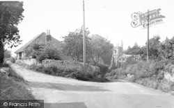 Church Corner c.1955, Pilton