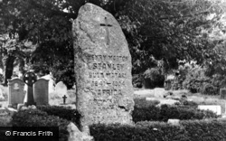 H.M.Stanley's Tombstone c.1960, Pirbright