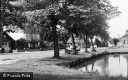 Pirbright, The Pond And Green c.1960