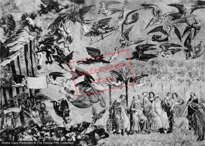 Photo of Pisa, Camposanto Vecchio, Fresco, The Triumph Of Death, Left Side c.1930