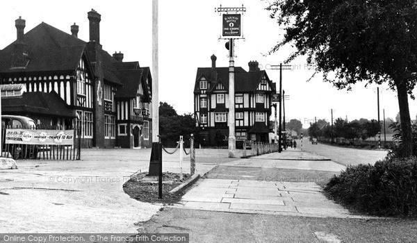 Pitsea, Railway Hotel and London Road c1955