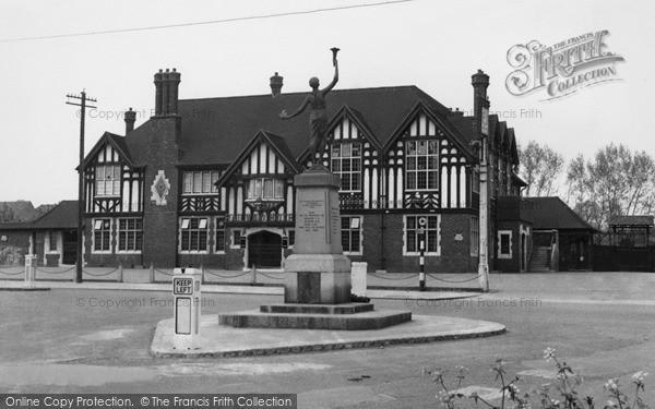 Photo of Pitsea, The Memorial c.1955