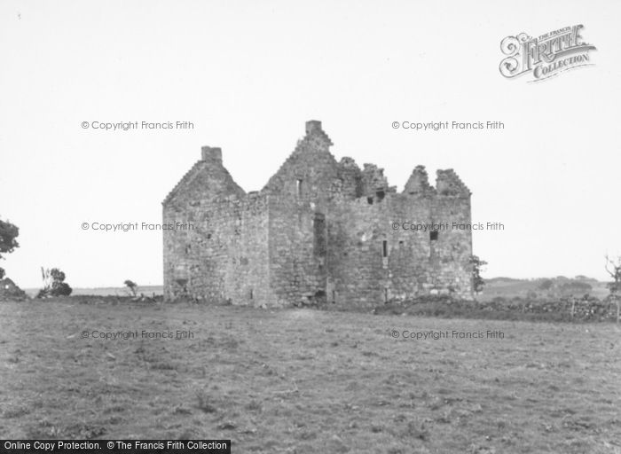 Photo of Pittarthie Castle, From The North West 1953