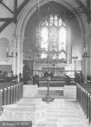 Plaxtol, Church Interior 1901