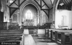 Plaxtol, Church Interior c.1960