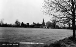 Pluckley, Cricket Pavilion And Church c.1960